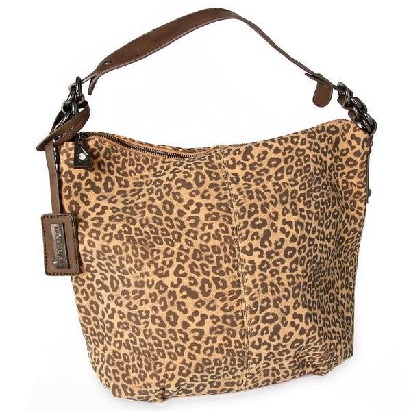 M by Miadora 'Tara' Leopard Print Hobo Bag