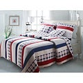 Nautical Stripes 3-piece Quilt Set