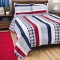 Greenland Home Fashions Nautical Stripes 3-piece Quilt Set
