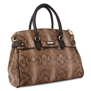 M by Miadora 'Rebecca' Python Embossed Satchel
