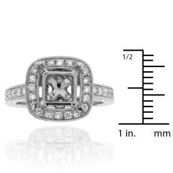 14k White gold 1/3ct TDW Diamond Semi Mount Engagement Ring (G-H, SI-1/SI-2)