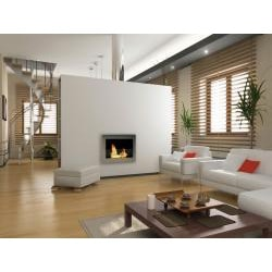 SoHo Wall Mount Ethanol Fireplace Stainless Steel