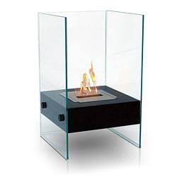 Hudson Indoor/ Outdoor Floor Standing Ethanol Fireplace