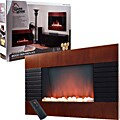 Warm House Mahogany Trim Fireplace 1500 Watt Heater