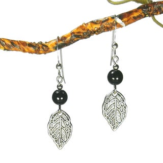 Jewelry by Dawn Black With Leaf Earrings