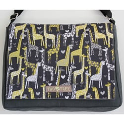 Two Tree Designs Handmade Medium I Heart Giraffes Messenger Bag