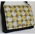 Two Tree Designs Handmade Medium Black Japanese Circles Messenger Bag