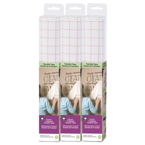 Cricut Cuttables Easy Application Vinyl Transfer Tape (Set of Three)