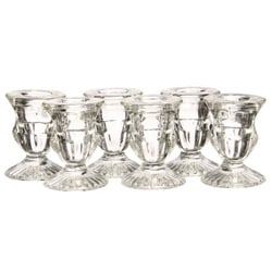 La Rochere Urne Clear Glass Candle Holders