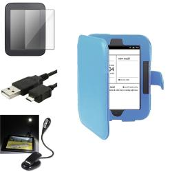 INSTEN Phone Case Cover/ Screen Protector/ LED Light/ USB Cable for Barnes & Noble Nook 2