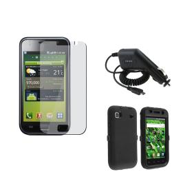 Black Hybrid Case/ Car Charger/ Protector for Samsung Galaxy S i9000