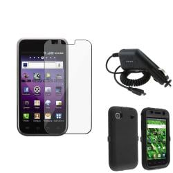 INSTEN Phone Case Cover/ Travel/ Car Charger/ LCD Protector for Samsung Galaxy S 4G T959v