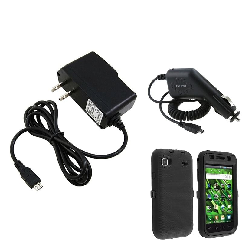INSTEN Phone Case Cover/ Car Charger/ Travel Charger for Samsung Galaxy Vibrant T959