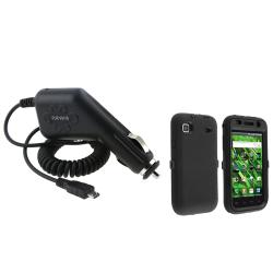 Black Hybrid Case/ Car Charger for Samsung Galaxy Vibrant T959