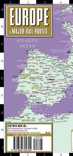 Streetwise Europe Rail: Railroad Map of Europe (Sheet map)