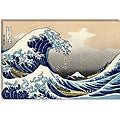 Katsushika Hokusai 12 in x 18 in 'The Great Wave off Kanagawa' Gallery Wrapped Canvas
