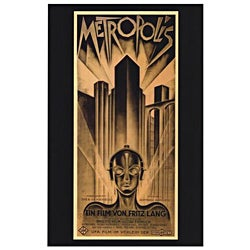 'Metropolis' Movie Poster 11x17-inch Gallery Wrapped Canvas
