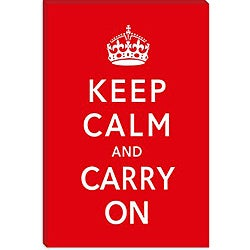 United Kingdom 'Keep Calm and Carry On' Gallery-Wrapped Canvas Wall Art