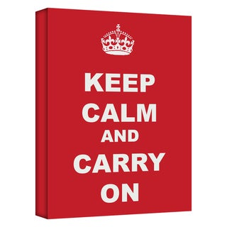 'Keep Calm and Carry On' Gallery Wrapped Canvas