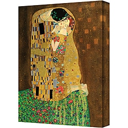 Gustav Klimt 'The Kiss' Large Traditional Gallery Wrapped Canvas