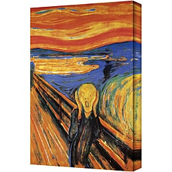 Edward Munch 'The Scream' Gallery-Wrapped Vertical Canvas