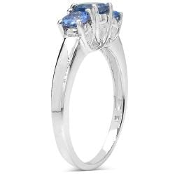 Malaika Sterling Silver 0.99ct TDW Tanzanite Ring