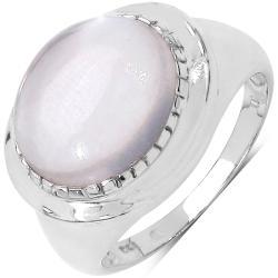 Malaika Sterling Silver Rose Quartz Ring