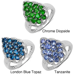 Malaika Silver Silver Gemstone Ring