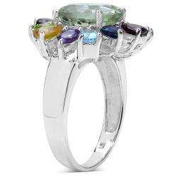 Malaika Sterling Silver Multi Gemstone Ring