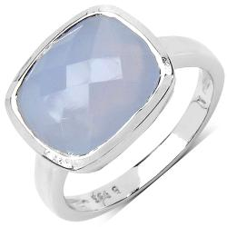 Malaika Sterling Silver Blue Chalcedony Ring
