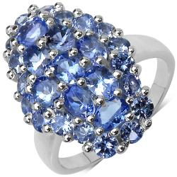 Malaika Sterling Silver 2.7ct TDW Tanzanite Ring