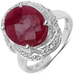 Malaika Sterling Silver 6.75ct TDW Ruby and Diamond Ring