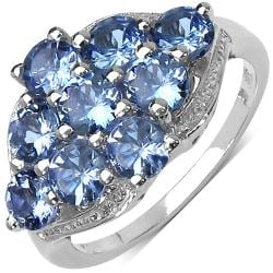 Malaika Sterling Silver 2.34ct TDW Tanzanite Ring