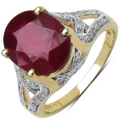 Malaika Sterling Silver 5.45ct TDW Ruby Ring