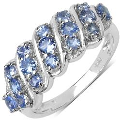 Malaika Sterling Silver 0.84ct TDW Tanzanite Ring