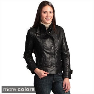 Collezione Italia Women's Lambskin Leather Jacket