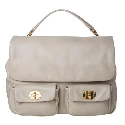 Miu Miu Taupe Leather Satchel