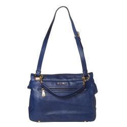 Miu Miu Blue Leather Satchel