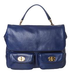Miu Miu Blue Leather Satchel