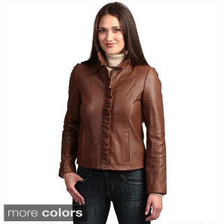 Collezione 'Italia' Women's Lambskin Leather Jacket