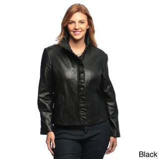 Collezione Women's Plus Leather Italia Jacket