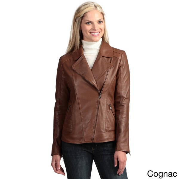 Collezione Women's Leather Asymmetrical Jacket