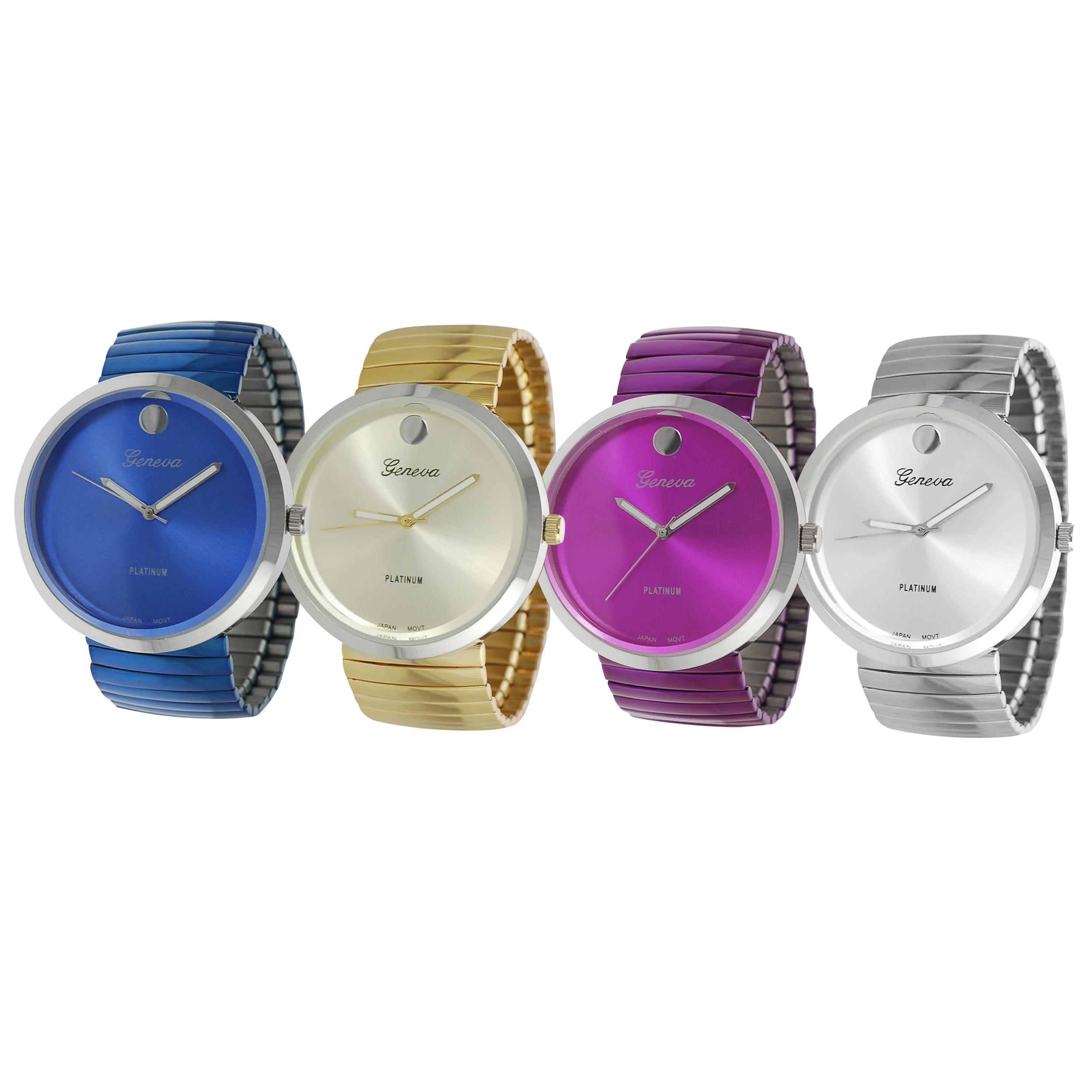 Geneva Platinum Women's Stretch Link Watch