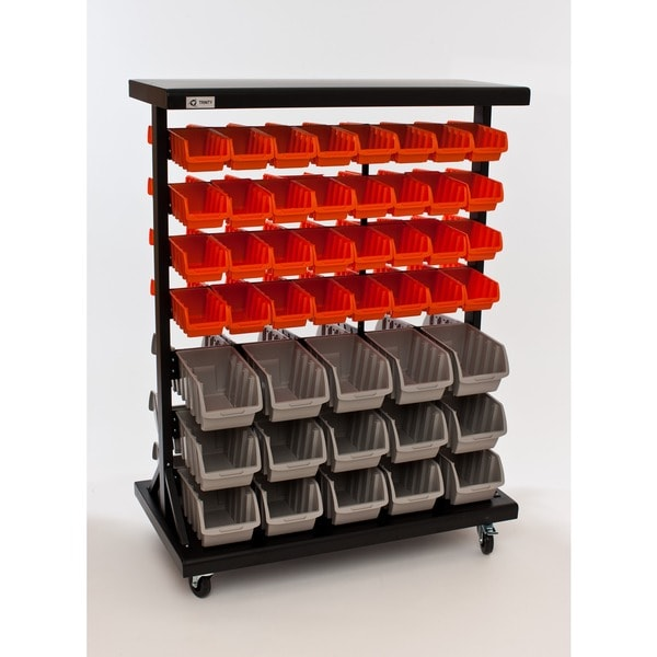 Trinity Dual-sided Mobile Bin Rack