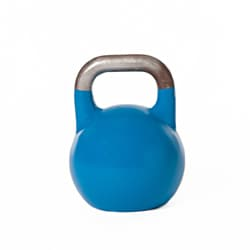 Blue 12kg Iron Competition Kettlebell with Unpainted Sanded Handle