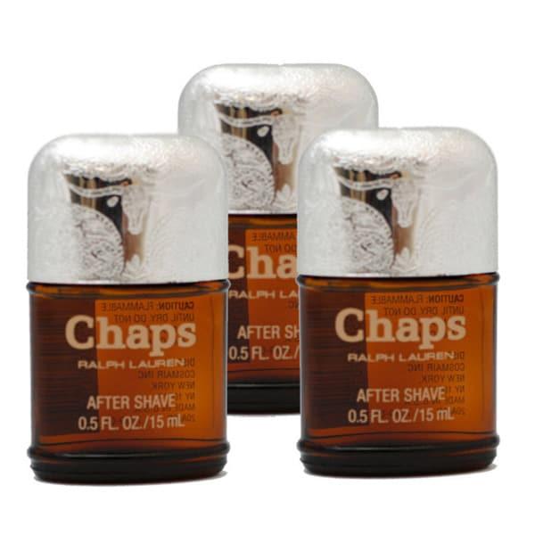 Ralph Lauren 'Chaps' Men's 0.5 ounce Aftershave Unboxed (Pack of 3)