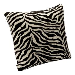 Wild Zebra Black Accent Pillow