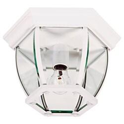 Mingus White 1 Light Flush Mount