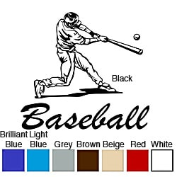Baseball Batter Vinyl Wall Art Decal
