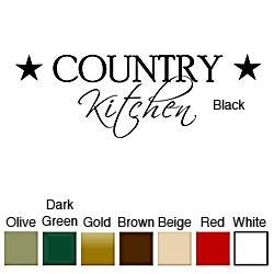 Vinyl 'Country Kitchen' Wall Decal